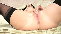 Not So Shy Nina Loves To Fuck Herself With Her Fingers And Then Taste How Sweet
