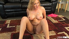 With a wet snatch and fun toys, Krissy Lynn can't go wrong in this solo