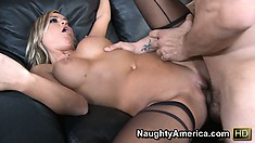 Mckenzee Miles gets her gorgeous blonde body wrecked balls deep