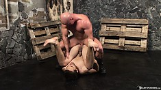 With every inch of his cock drilling that ass, he provides pure pleasure to them both