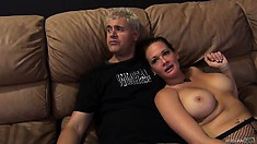 Tory Lane smokes a cigarette while those sex toys slowly drive her peach to orgasm
