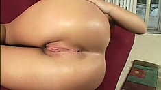 This busty chick is rocking what might be the most fuckable round ass ever!