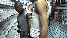 He wanted to rent a gay video but ends up making one in the back room