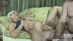 Hot young Natali gets her amazing tight pussy creamed by lusty Frank