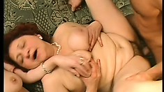 Two mature ladies seduce a young stud to bring their sexual fantasies to fruition