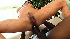 Wonderful brunette housewife with a perfect ass and big boobs loves black cock
