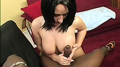 Curvaceous babe Jordan Star can't get enough of that big black rod banging her twat