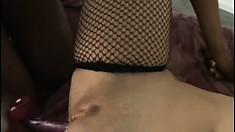 Mesmerizing prostitute Alesha Bizart is stroking tasty chocolate clit