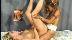 Interracial lesbians exploring their wild sexual fantasies behind bars