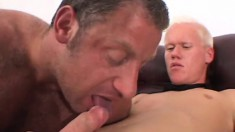 Young blonde twink takes every inch of a big dick up his butt hole