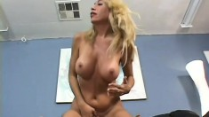 Slutty blonde MILF has been waiting to ride this throbbing cock