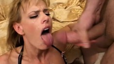 Cock hungry whore is dying to take this black snake up her butt