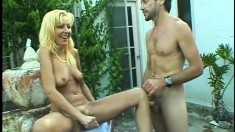 Filthy blonde MILF is eager to feel this cock up her sphincter