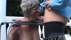 A filthy old woman shows the benefits of age in a nasty threesome