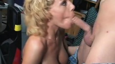 Busty Milf Sammie Sparks shows her expertise with a cock in some hot action