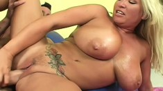 Huge breasted milf wants nothing but a big stick pounding her snatch