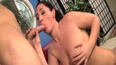 Plump beauty with a gigantic ass gets oiled and shafted hard