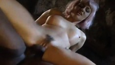 Sexy blonde Laura slurps on is dick before taking it up the ass