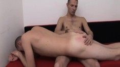 Andrew and Charles start with a spanking then move to oral and anal