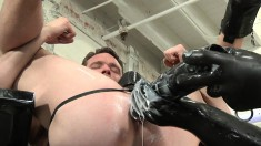 Kinky Hunk Gets His Asshole Stretched By A Huge Sex Toy In A Wild All-male Threesome