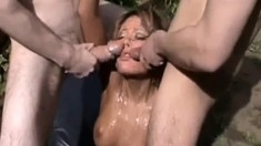 Brooke Belle Takes On A Huge Dick And A Cumshot In Group Sex