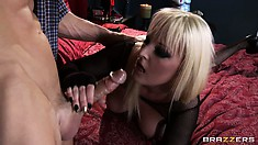 Skanky Blonde Punk Sucks A Dick And Gets Her Asshole Eaten Out