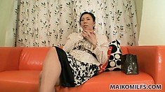 Horny Asian lady with luscious long legs is on the lookout for hardcore action