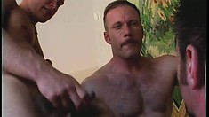 Handsome jock with nice muscles gets caked with his lovers' cum
