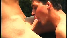 Cute boi moans like a bitch while a farmer plows his fuckholes