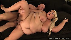 XXXL horny big girl gets a hard fucking from a hung womanizer