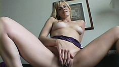 Naughty Blonde Milf Fully Enjoys Her First Experience With A Black Cock