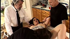 Mrs K Wooden can't wait to get drilled by two men at the same time