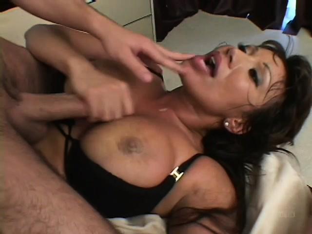 Mature lady sucks big black cock