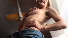 Cute blonde Milf gets her freak on and gives him every hole she has to fuck