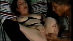 Horny granny is eager to take the young stud's cock deep in her ass