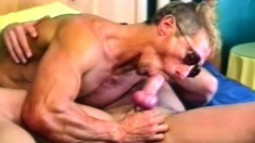 Hunky stud Brett Hughes roughly pounds Michael Vista's tight ass with his stiff dick