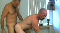 Miguel and Eric offer each other great blowjobs and then fuck hard