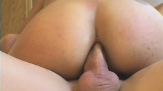Latina bitch with massive fake tits gets her ass fucked deeply
