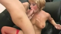 Hana invites a hung guy to stretch her pussy and unload in her mouth