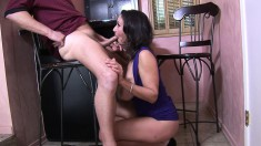 Bodacious milf Persia Monir seduces a hung guy and gets pounded hard