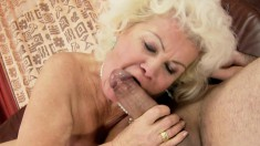 Sensual granny gets some pounding action from a young stallion