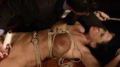 Bodacious brunette Andrea brings her bondage fetish fantasy to reality