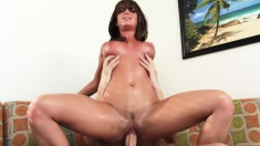 Xander is getting it from busty babe Rahyndee James and bangs her hard
