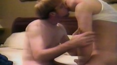 Gorgeous young twink engages in hardcore gay sex for the first time