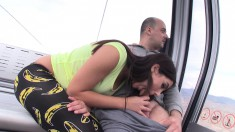 Alluring babe gives a perfect blowjob and wildly fucks that hard dick
