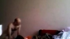 Bald Man Having Fun With A Girl