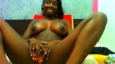 Amazing Black Teen Show All On Webcam