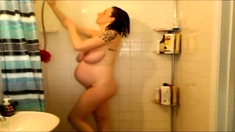 After Shower Fun With Amateur Brunette