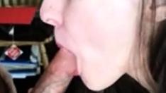 Brunette College Teen Sucking Cock Pov