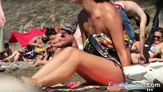 Sexy Asshole On The Beach